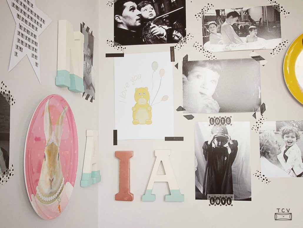 diseña un moodboard para decorar la pared
