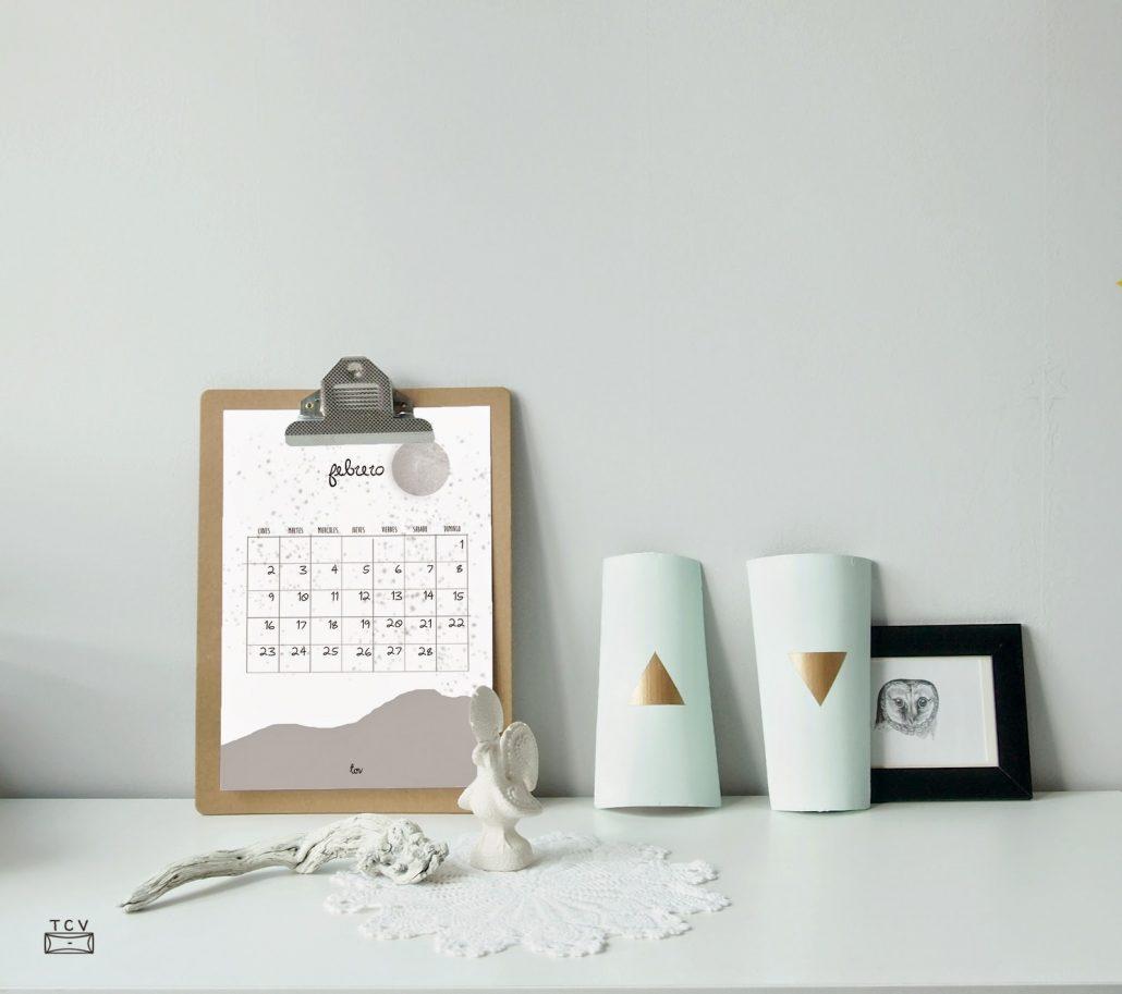 calendario A4 de febrero para imprimir