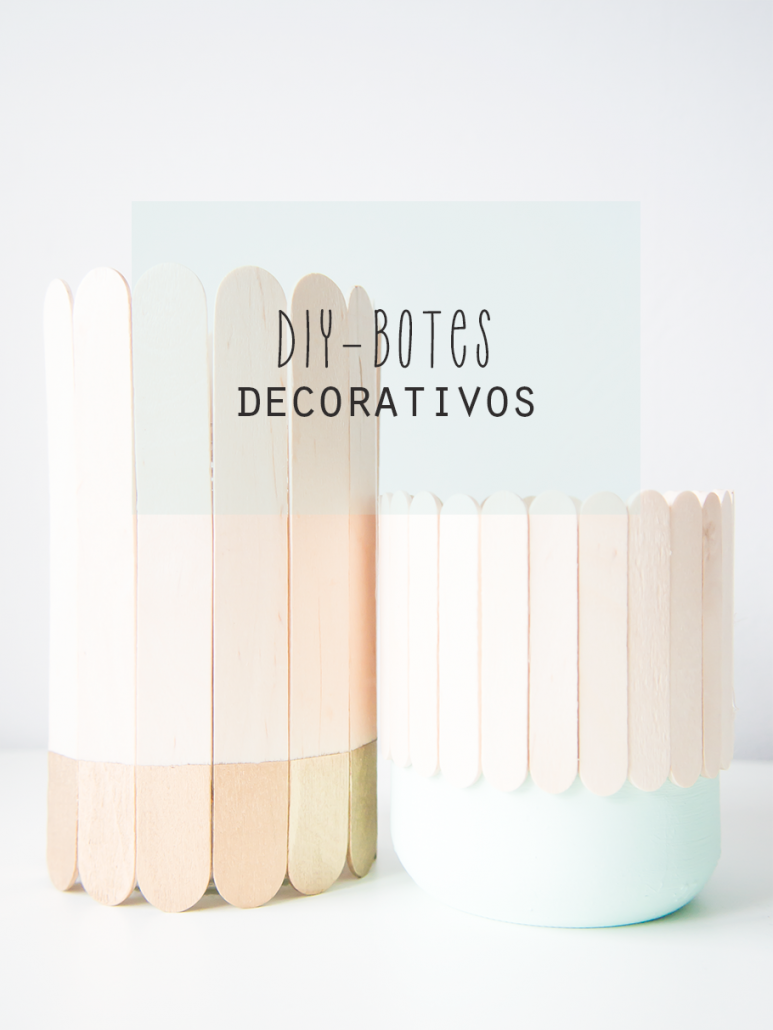 Diy, botes decorativos