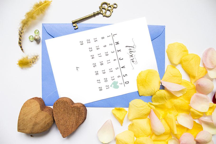 Calendario imprimible febrero