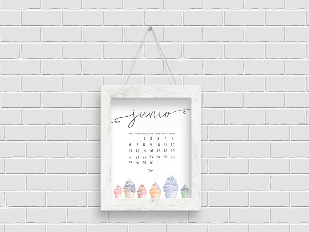 Calendario descargable junio