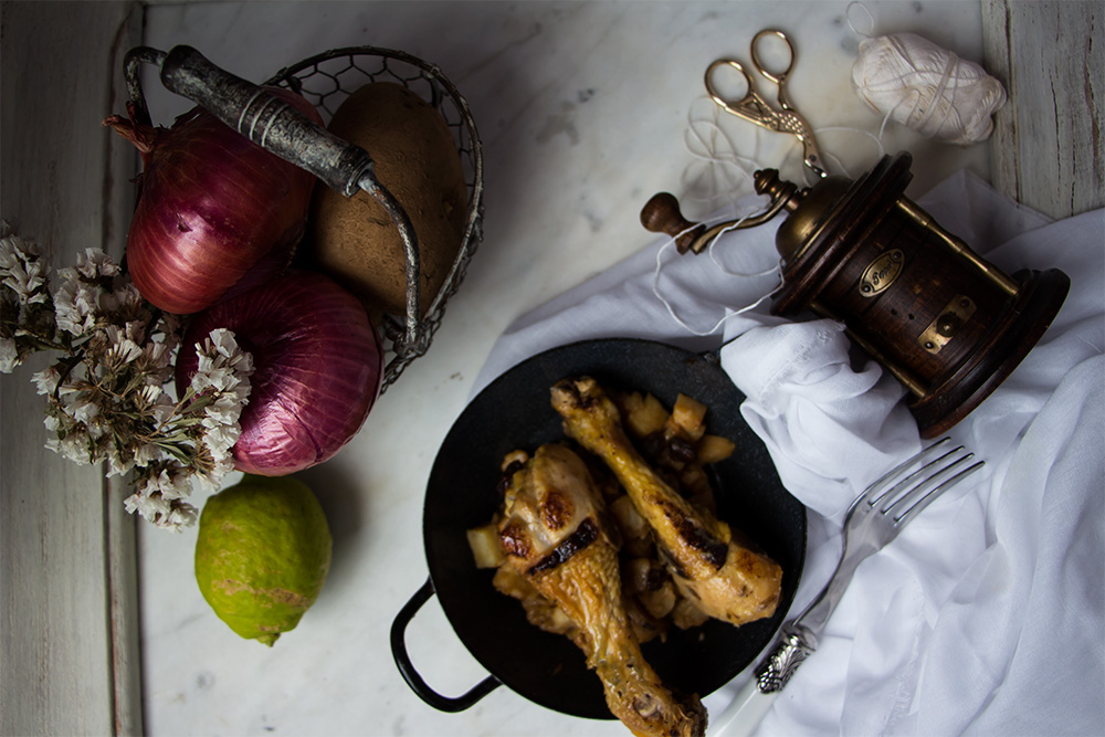 Muslos de pollo al limón