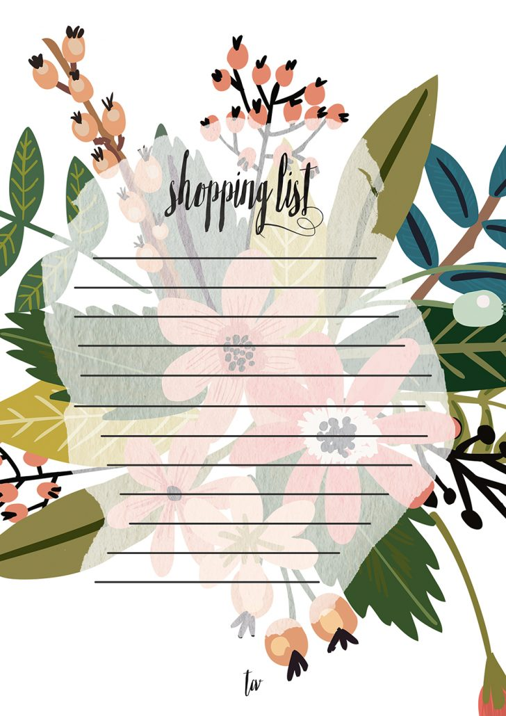 Calendario julio + shopping list