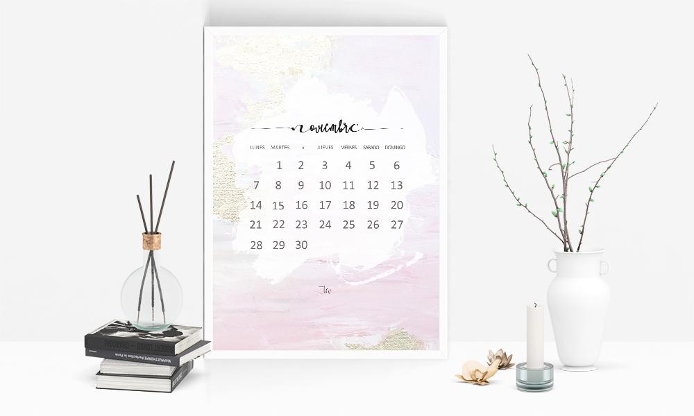 Calendario descargable de noviembre